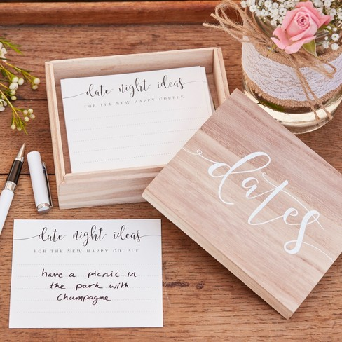 Wooden Date Suggestion Box Rustic Country - image 1 of 2