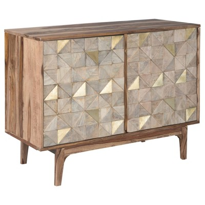 Carolmore Accent Cabinet Brown/Gold - Signature Design by Ashley