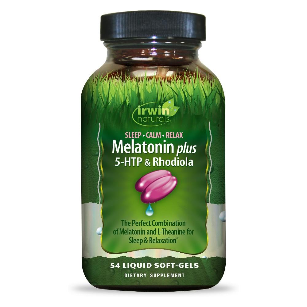 Irwin Naturals Melatonin Plus 5-Htp Dietary Supplement Softgels - 54ct