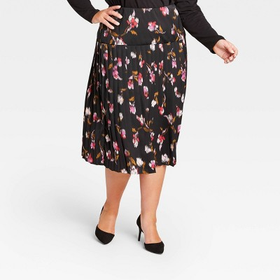 Women's Pleated Midi Skirt - Who What Wear™
