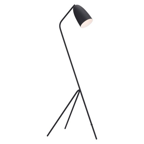 Modern Floor Lamp Matte Black 15 Zm