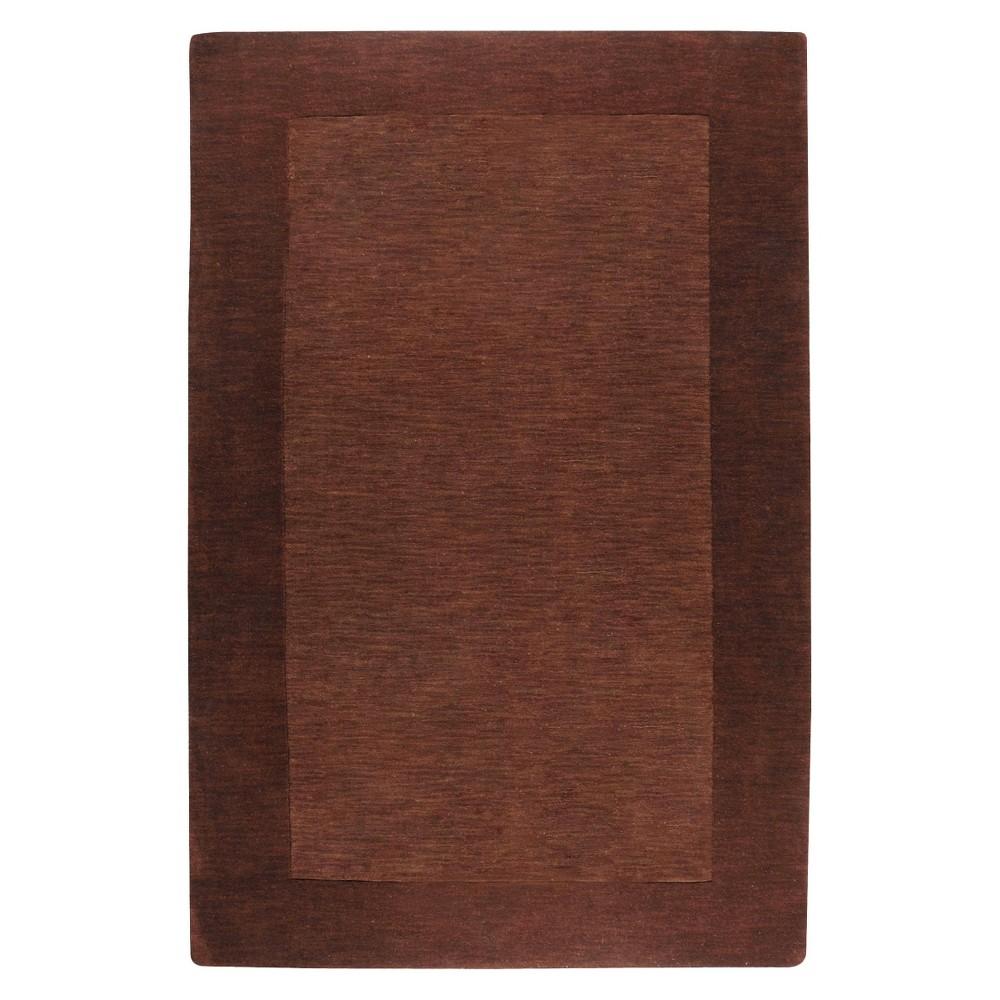 Chocolate (Brown) Solid Woven Area Rug - (6'X9') - Surya