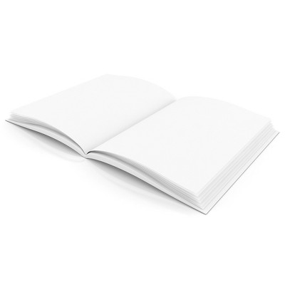 Flipside Plain White Blank Book 8W x 6H Hardcover 28 Pages 14 Sheets H-BK400