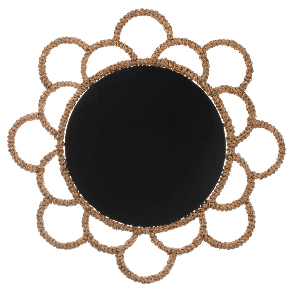 Round Chalkboard with Frame, Black - Threshold, Multi-Colored