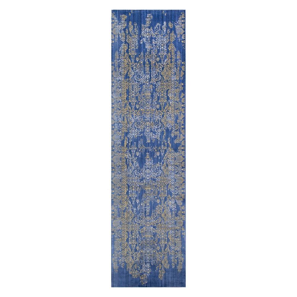 2'3X8' Burst Loomed Runner Blue - Momeni