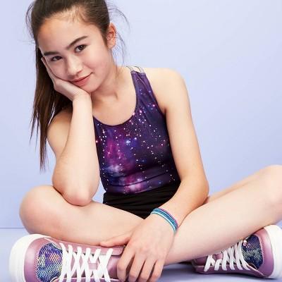 Girls' Galaxy Gymnastics Leotard   More Than Magic™ Purple by More Than Magic