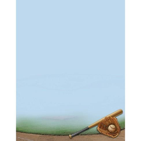 80ct Baseball Letterhead Blue - image 1 of 3