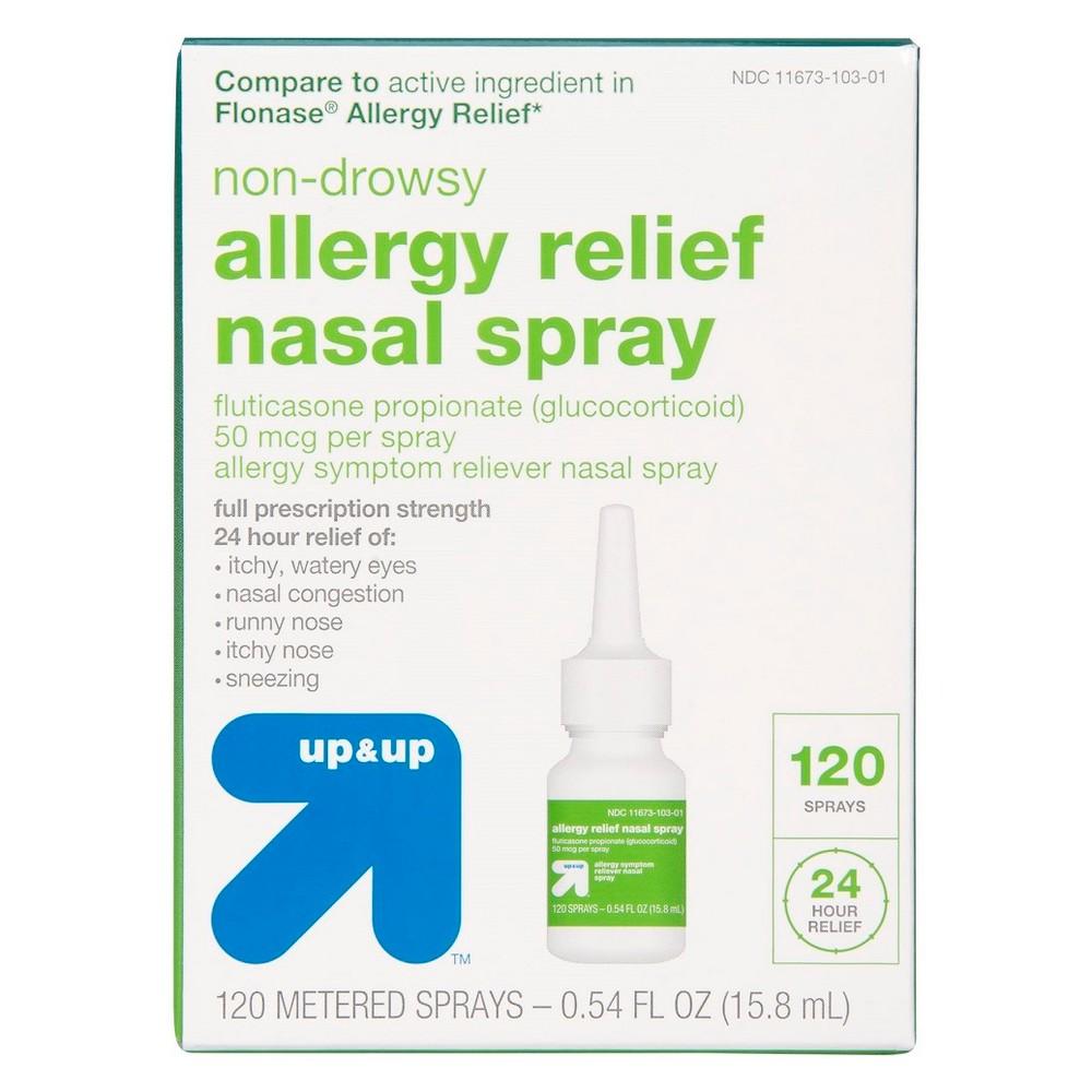 Fluticasone Propionate (Glucocorticoid) Allergy Relief Nasal Spray - 120 sprays 0.54 fl oz- Up&Up