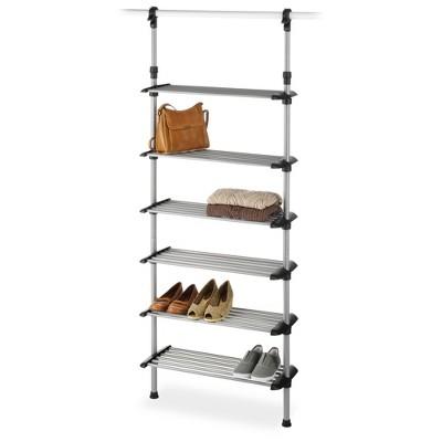 Whitmor 6-Shelf Metal Shoe Rack System