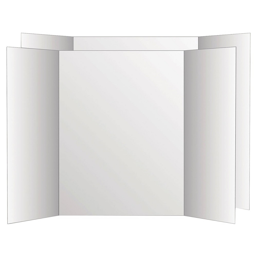 Image of Eco Brites Too Cool Tri-Fold Poster Board - White