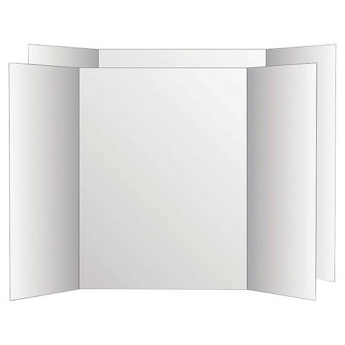 Eco Brites Too Cool Tri Fold Poster Board White