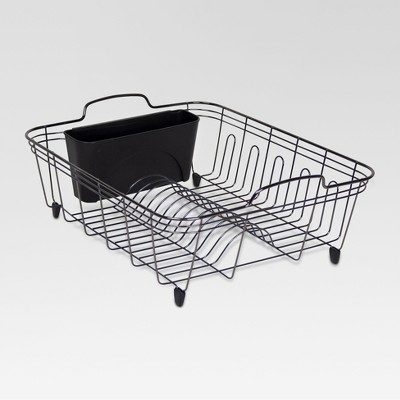 Metropolis Large Dish Drain Rack - Black - Threshold™