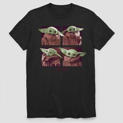 Men's Star Wars The Mandalorian Child Short Sleeve Graphic T-Shirt - Black