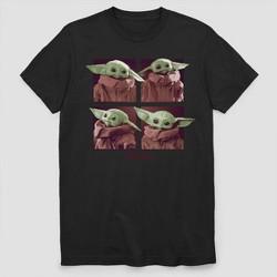 Men's Star Wars The Mandalorian Child Short Sleeve Graphic T-Shirt - Black