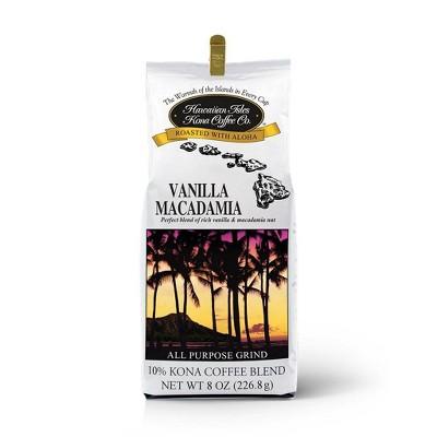 Hawaiian Isles Vanilla Macadamia Blend Medium Roast Ground Coffee - 8oz