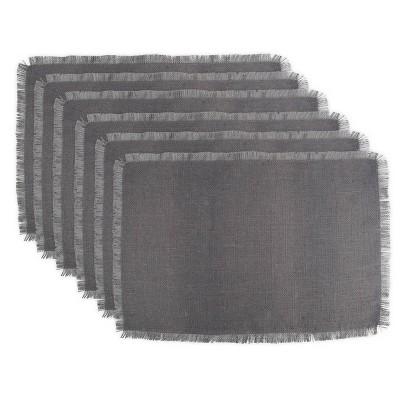 6pk Jute Placemats Gray - Design Imports