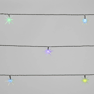 10ct LED 3D Frosted Starburst Color Changing Christmas String Lights with Green Wire - Wondershop™