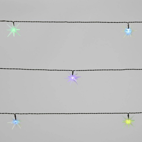 10ct LED 3D Frosted Starburst Color Changing Christmas String Lights with Green Wire - Wondershop™ - image 1 of 4