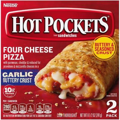 Hot Pockets Garlic Buttery Crust Frozen Four Cheese Pizza - 8.5oz/2ct
