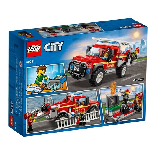 LEGO City Fire Chief Response Truck 60231 Building Set with Toy Firetruck and Ladder 201pc image number null