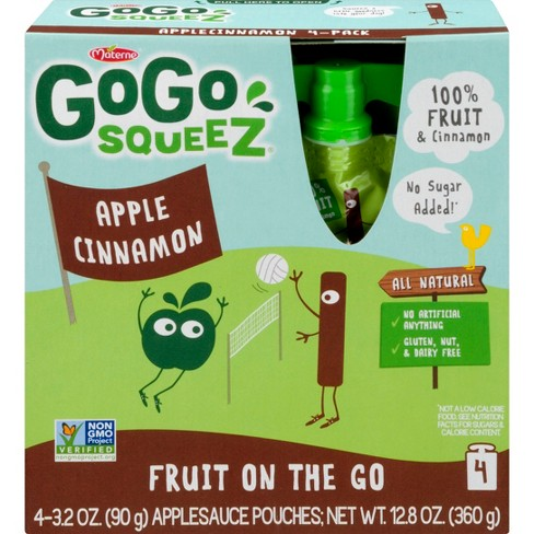 Gogo Squeez Apple Cinnamon Applesauce On The Go Pouches 4ct - 3.2oz - image 1 of 1