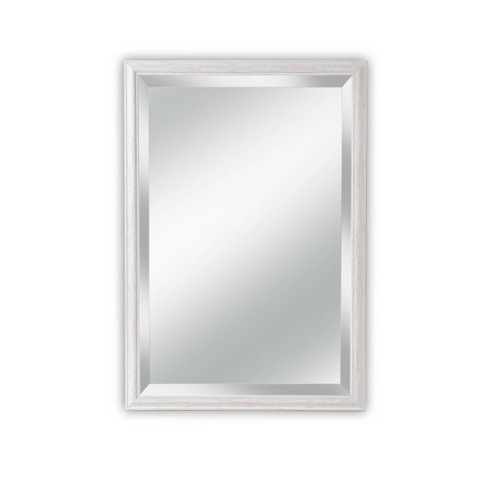 27 X 39 Savannah Brushed White Framed, Mirror Framed Mirror Target