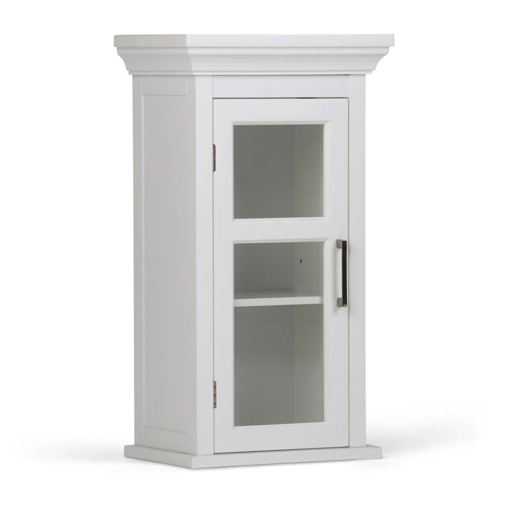 Avington Single Door Wall Cabinet ( 15'' W x 14'' D x 30'' H ) White - Simpli Home