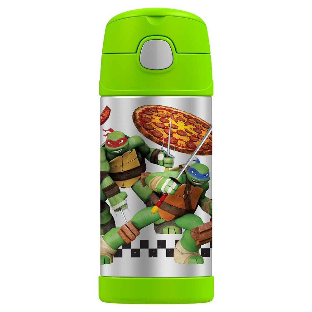 Thermos FUNtainer Vacuum Insulated Stainless Steel Bottle Tmnt - 12oz, Green