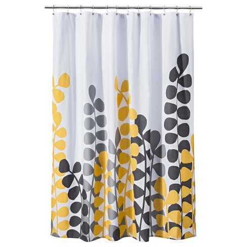 Vine Shower Curtain - Yellow/Gray - Room Essentials™ - image 1 of 1