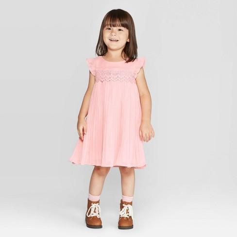 Oshkosh'B'gosh Toddler Girls' Pleated Dress - Pink - image 1 of 3