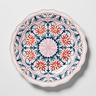 Melamine Salad Plate 8.4  Pink/Blue Medallion - Opalhouse™