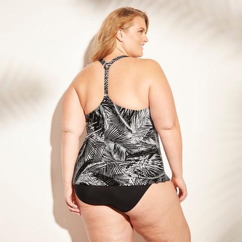 de54e9ed13a Women s Plus Size Racerback Tankini - Aqua Green...   Target