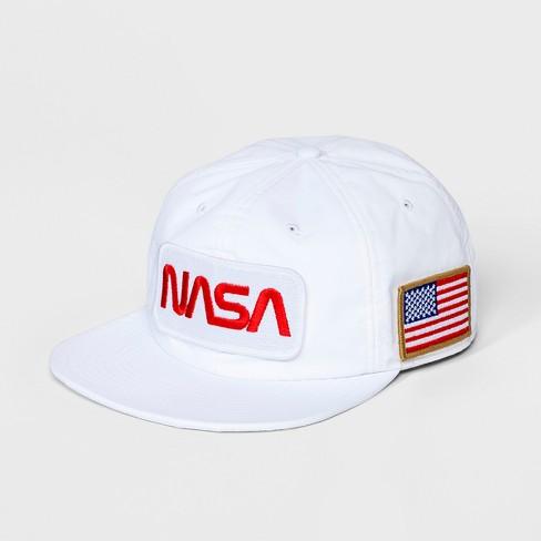 0bfab3d30 Men's NASA Patch Baseball Hat - White One Size