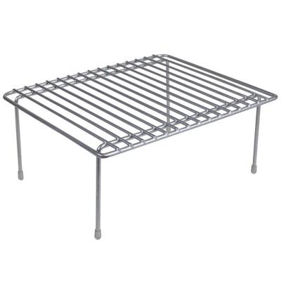 Home Basics Small Heavy Weight Vinyl Coated Steel Helper Shelf, Silver