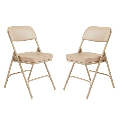Set of 2 Premium Vinyl Padded Folding Chairs - Hampton Collection