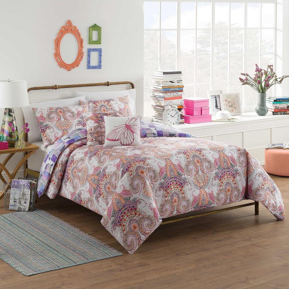 Aria Comforter Set (King) Multicolored 5pc - Vue, Multi-Colored