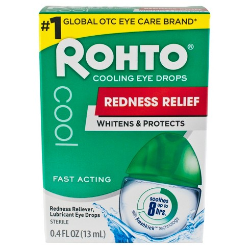 Rohto Redness Relief Cooling Eye Drops - 0.4 oz - image 1 of 5