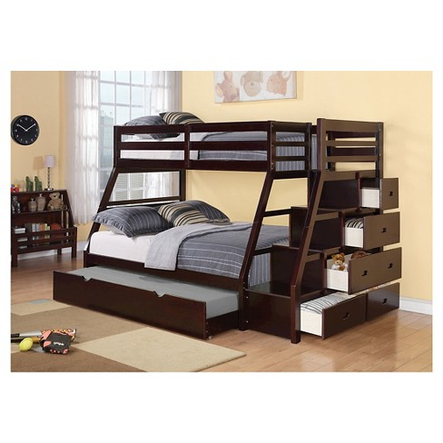 Jason Kids Bunk Bed With Storage And Trundle Target