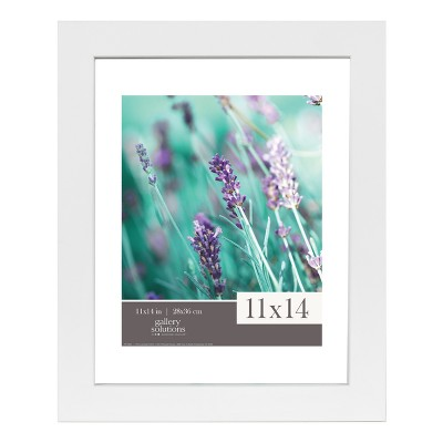 Single Image 11X14 Float To 8X10 Wide White Frame - Gallery Solutions