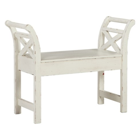 Heron Ridge Accent Bench White - Signature Design by Ashley - image 1 of 1