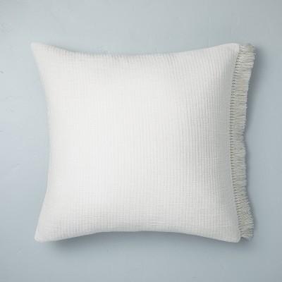 Textured Fringe Pillow Sham Sour Cream - Hearth & Hand™ with Magnolia