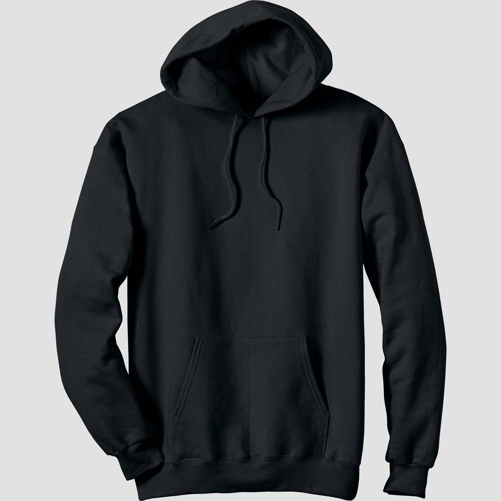 Hanes Men S Ultimate Cotton Pullover Hooded Sweatshirt Black Xl