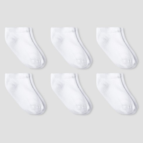 Baby Athletic Low Cut Socks - Cat & Jack™ White - image 1 of 1