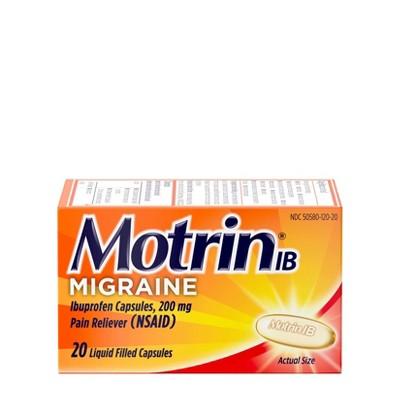 Motrin Ibuprofen (NSAID) Migraine Liquid Filled Caplet - 20ct