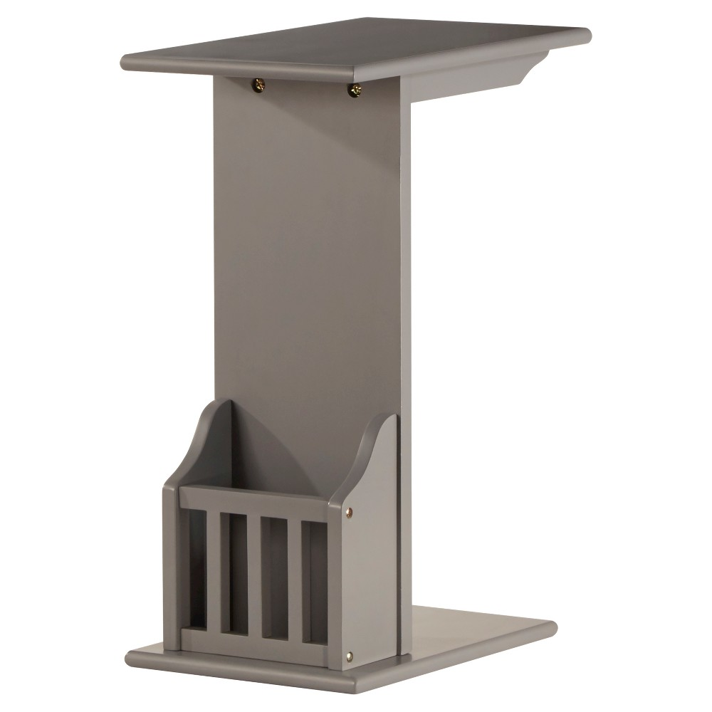 Image of Patton Magazine Rack Accent Table - Gray - Inspire Q