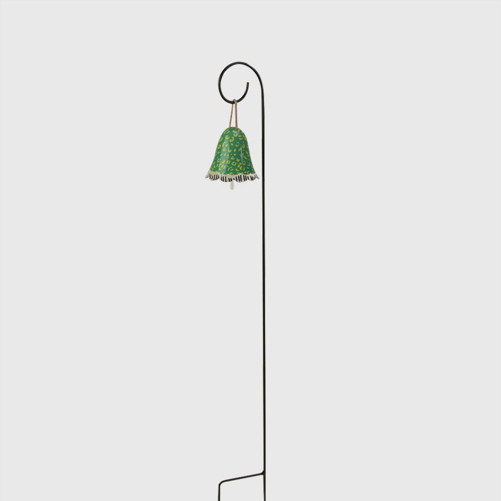 32 Decorative Garden Iron Bell Stake Green - Opalhouse