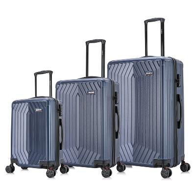 DUKAP STRATOS Lightweight 3pc Hardside Spinner Luggage Set - Blue
