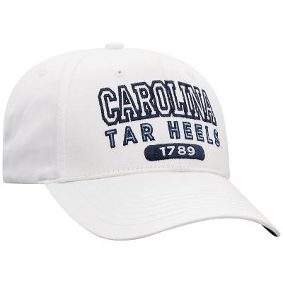 NCAA North Carolina Tar Heels Men's White Twill Structured Snapback Hat