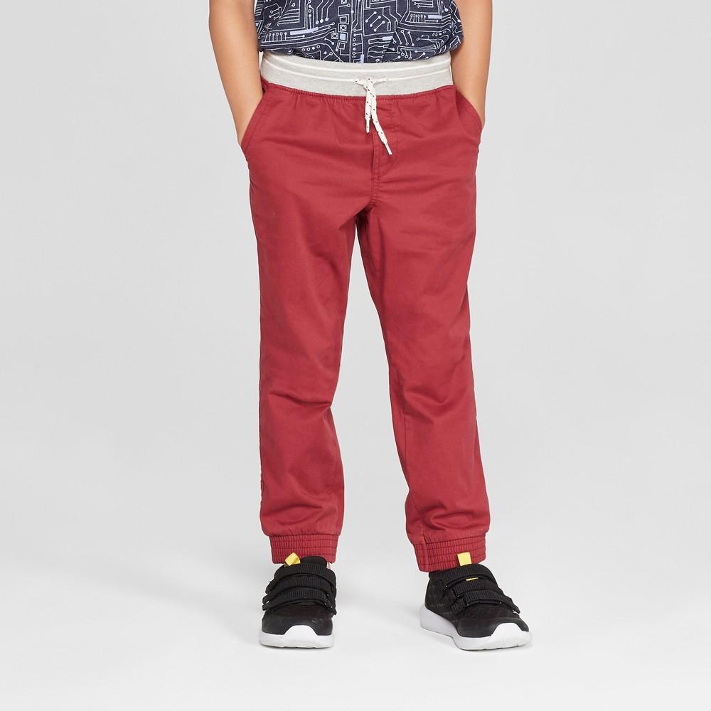 Boys' Jogger Pants - Cat & Jack Red 16 Husky