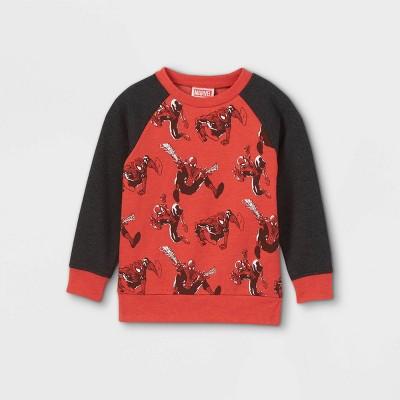 Toddler Boys' Spider-Man Fleece Pullover - Red